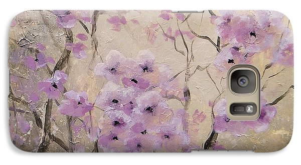 Galaxy Case featuring the painting A Glow by Laura Lee Zanghetti