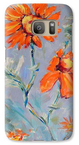 Galaxy Case featuring the painting A Glow by Mary Schiros