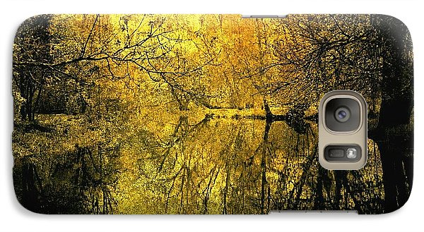 Galaxy Case featuring the photograph A Golden Tribute To Collins Creek by Jim Vance