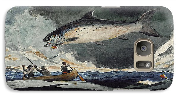 Galaxy Case featuring the painting A Good Pool. Saguenay River by Winslow Homer