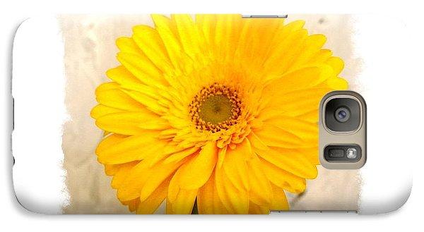 Galaxy Case featuring the photograph A Grand Yellow Gerber by Marsha Heiken