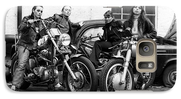 Galaxy Case featuring the photograph A Group Of Women Associated With The Hells Angels, 1973. by Lawrence Christopher