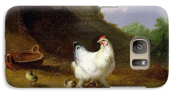 A Hen With Her Chicks Galaxy S7 Case