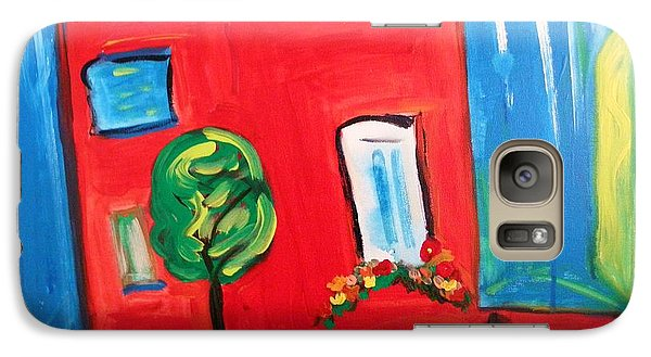 Galaxy Case featuring the painting A House With A Smile To Give by Mary Carol Williams