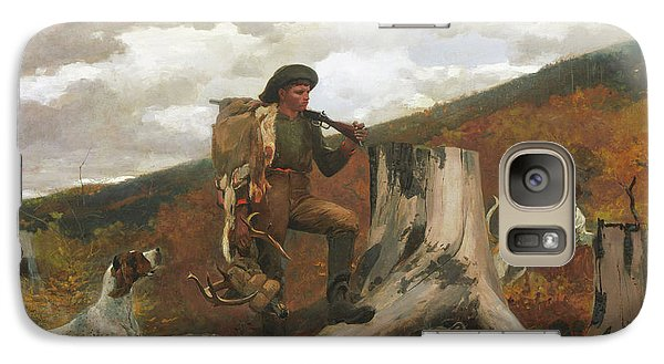 Galaxy Case featuring the painting A Huntsman And Dogs - 1891 by Winslow Homer