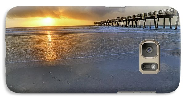 A Jacksonville Beach Sunrise - Florida - Ocean - Pier  Galaxy S7 Case