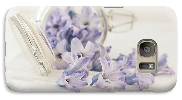Galaxy Case featuring the photograph A Jar Of Purple Sweetness by Kim Hojnacki