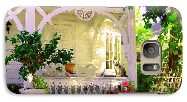 Galaxy Case featuring the painting A Key West Porch by David  Van Hulst