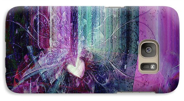 Galaxy Case featuring the digital art A Kind Heart by Linda Sannuti