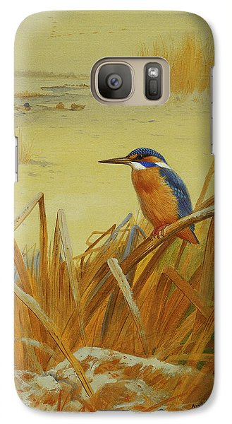 A Kingfisher Amongst Reeds In Winter Galaxy S7 Case