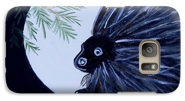 Galaxy Case featuring the painting A Knight In The Woods by Carolyn Cable