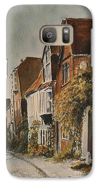Galaxy Case featuring the painting A Lane In Rye by Beatrice Cloake