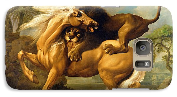 A Lion Attacking A Horse Galaxy S7 Case by George Stubbs