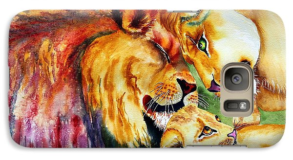 Galaxy Case featuring the painting A Lion's Pride by Maria Barry