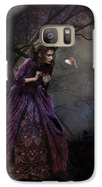 Galaxy Case featuring the digital art A Little Bird Told Me by Shanina Conway