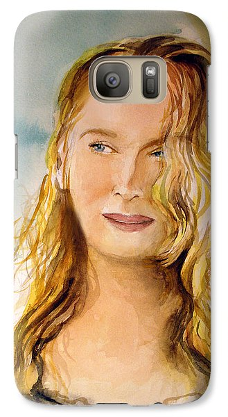 Galaxy Case featuring the painting A Little Bit Of Meryl by Allison Ashton