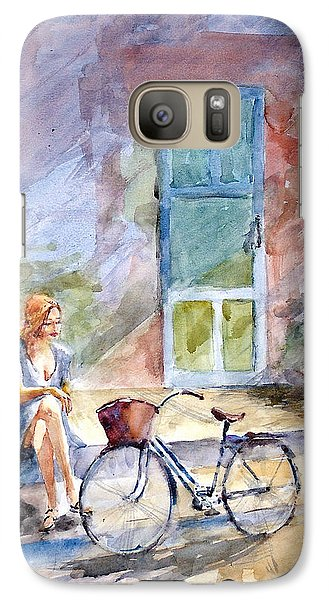 Galaxy Case featuring the painting A Little Break... by Faruk Koksal