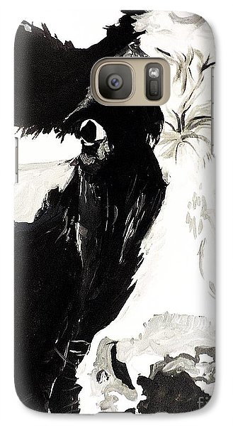 Galaxy Case featuring the painting A Little Shy by Tom Riggs