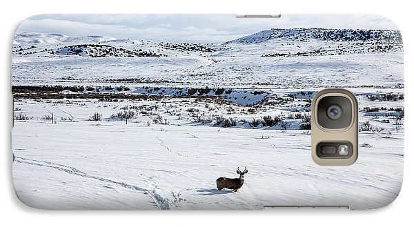 Galaxy Case featuring the photograph A Lone Buck Deer In Carbon County, Wyoming by Carol M Highsmith