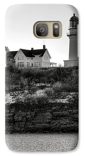 Galaxy Case featuring the photograph A Long Winter At Cape Elizabeth by Olivier Le Queinec