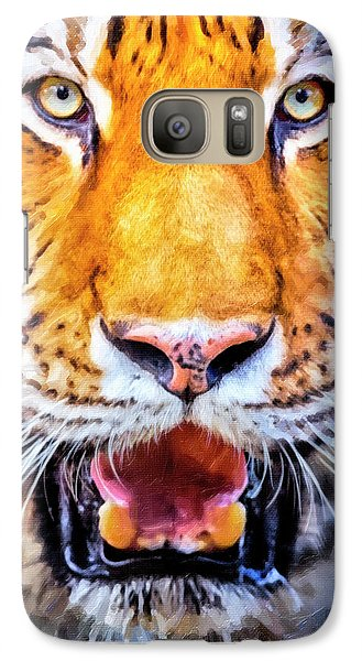 A Look Into The Tiger's Eyes Large Canvas Art, Canvas Print, Large Art, Large Wall Decor, Home Decor Galaxy S7 Case