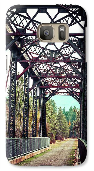 Galaxy Case featuring the photograph A Lovely Path by Mary Hone