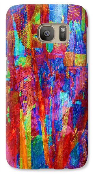 Galaxy Case featuring the painting A Magpie At Wallstreet by Mojo Mendiola