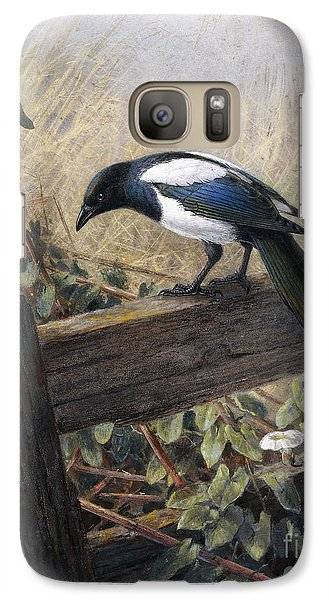 Magpies Galaxy S7 Case - A Magpie Observing Field Mice by Johan Gerard Keulemans