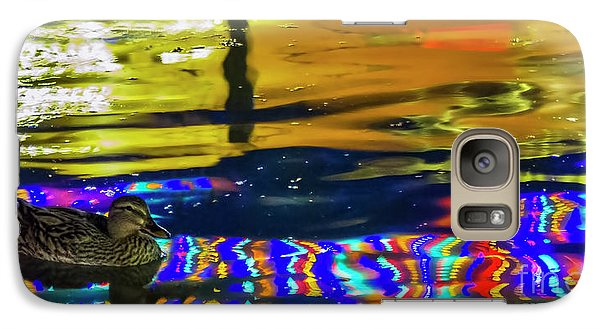 Galaxy Case featuring the photograph A Mallard Of Old San Antone by Gary Holmes