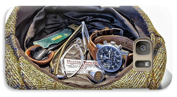 Galaxy Case featuring the photograph A Man's Items by Walt Foegelle