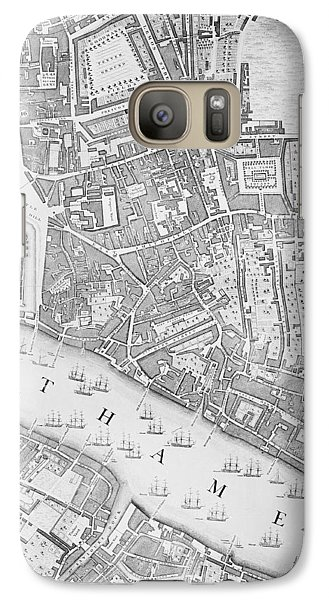 A Map Of The Tower Of London Galaxy S7 Case by John Rocque