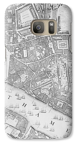 A Map Of The Tower Of London Galaxy Case by John Rocque