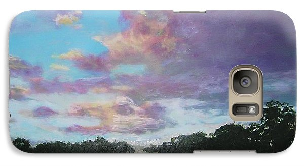 Galaxy Case featuring the painting A Mauve Day by Marie-Line Vasseur