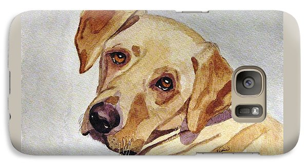 Galaxy Case featuring the painting A Mellow Yellow by Angela Davies