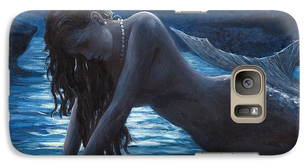 A Mermaid In The Moonlight - Love Is Mystery Galaxy S7 Case