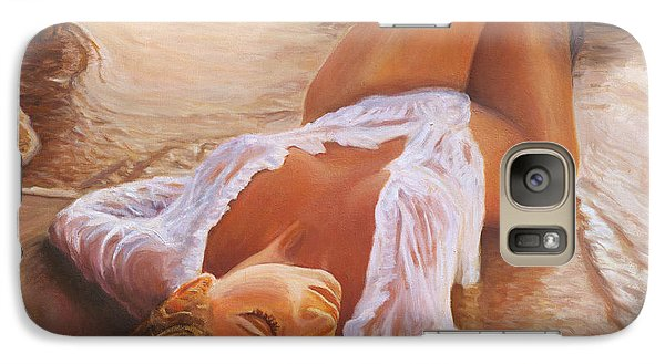 A Mermaid In The Sunset - Love Is Seduction Galaxy Case by Marco Busoni