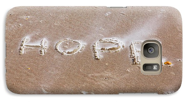 Galaxy Case featuring the photograph A Message On The Beach by John M Bailey