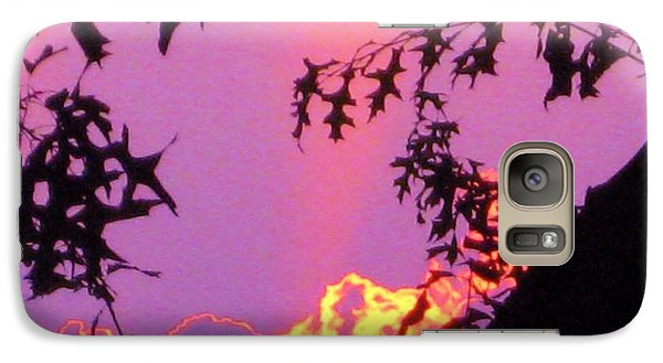 Galaxy Case featuring the photograph A Mid-summer Sunset by Susan Carella