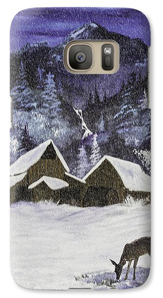Galaxy Case featuring the photograph A Midnight Clear A Variation by Diane Schuster