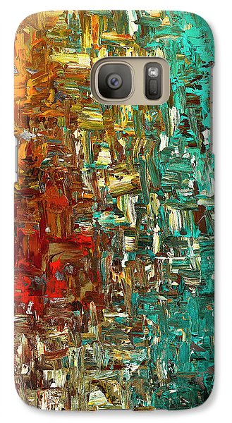 Galaxy Case featuring the painting A Moment In Time - Abstract Art by Carmen Guedez