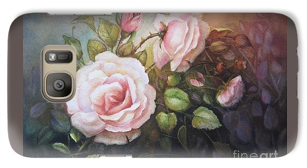 Galaxy Case featuring the painting A Moment In Time by Patricia Schneider Mitchell