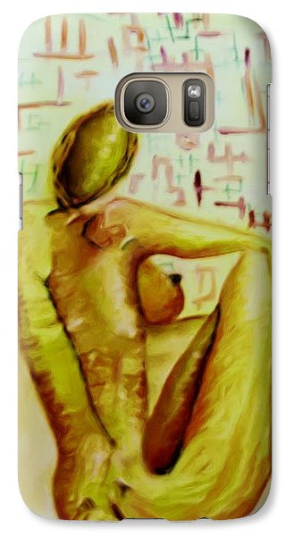 Galaxy Case featuring the painting A Moment In Time by Shelley Bain