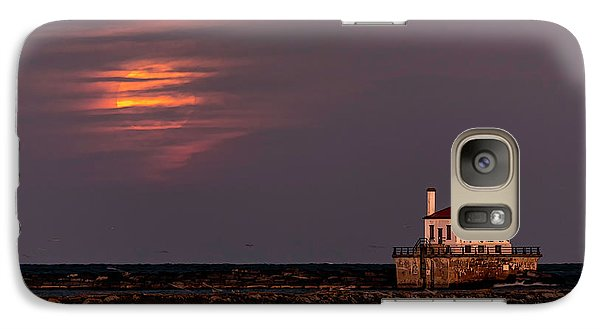 Galaxy Case featuring the photograph A Moonsetting Sunrise by Everet Regal