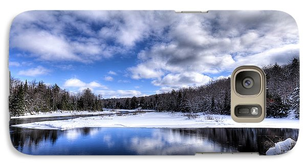 Galaxy Case featuring the photograph A Moose River Snowscape by David Patterson