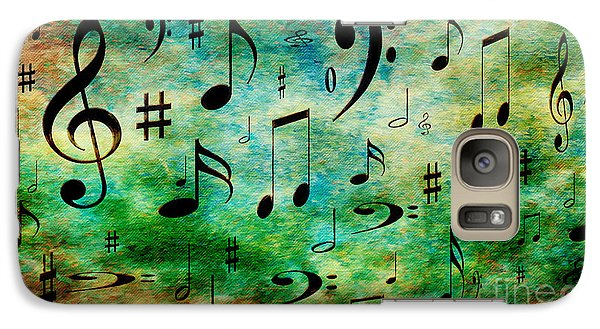 Galaxy Case featuring the digital art A Musical Storm 2 by Andee Design