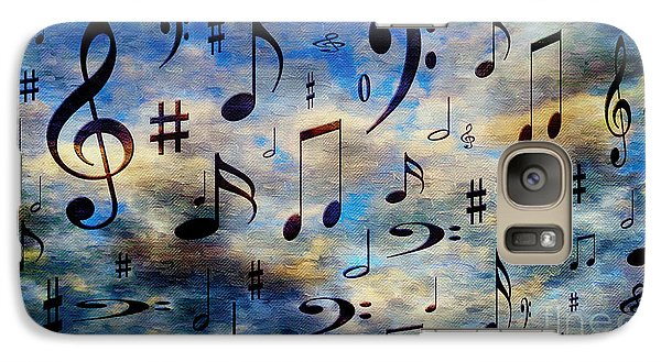 Galaxy Case featuring the digital art A Musical Storm 3 by Andee Design