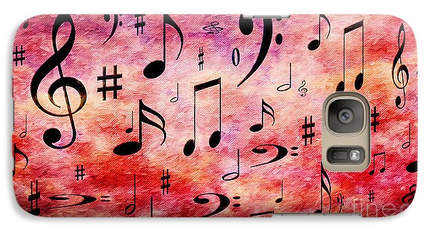 Galaxy Case featuring the digital art A Musical Storm 4 by Andee Design