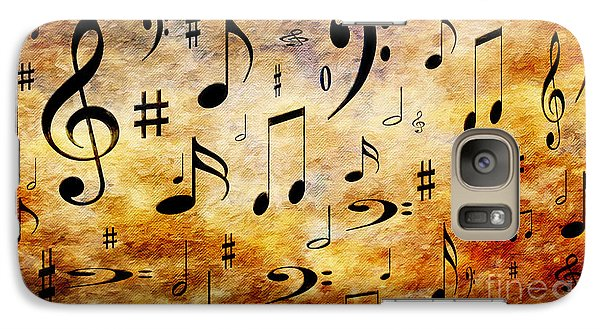 Galaxy Case featuring the digital art A Musical Storm by Andee Design