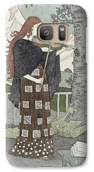 Violin Galaxy S7 Case - A Musician by Eugene Grasset