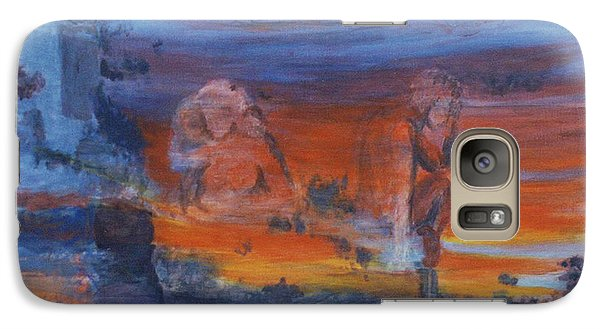 Galaxy Case featuring the painting A Mystery Of Gods by Steve Karol